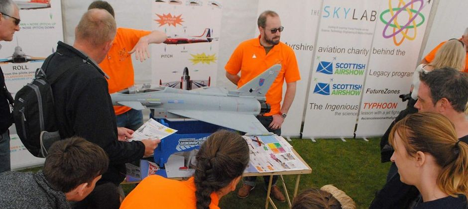 STEM experts engaging with the public at the 2015 Scottish Airshow FutureZones
