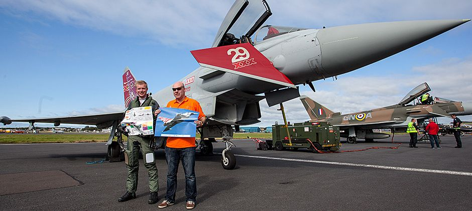 The Ingenious Typhoon education packs with the 2015 Typhoon Display Team at the Scottish Airshow